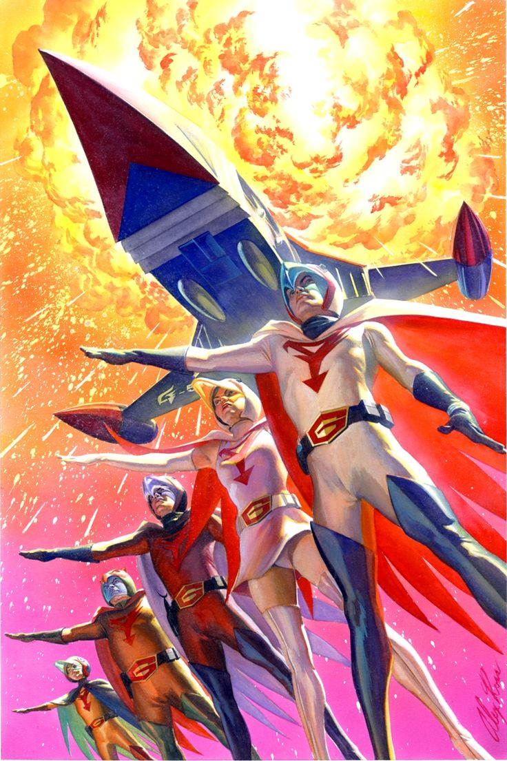 SPACESHIP ROCKET, Battle of The Planets by Alex Ross