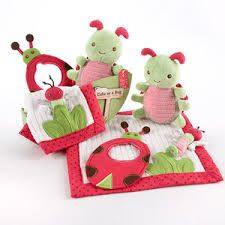 """Something Blue - Baby Aspen - """"Cute As a Bug"""" - Four-Piece Critter Gift Set, R360.00 (http://www.somethingblue.co.za/baby-aspen-cute-as-a-bug-four-piece-critter-gift-set/)"""
