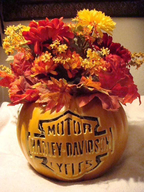 Harley Davidson Pumpkin by DistantVisions.deviantart.com