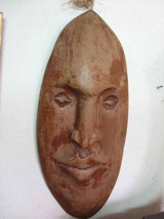 Checkout this amazing product Beautiful Hand Carved Face Mask of Barbados Mahogany at Shopintoit