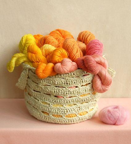 Crocheted Stash Basket