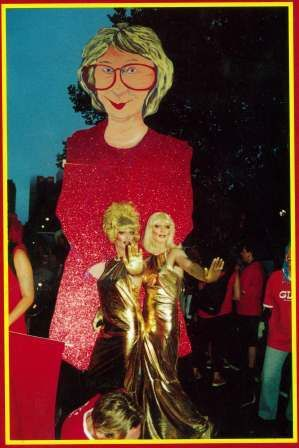 Jennie George float when President of the ACTU, Sydney Mardi Gras
