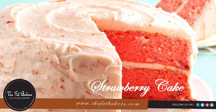 A Delicious Layering Cake Made With Natural#Strawberry Crush And Whipping #Cream. The Fat Bakers best online #cakeshop in Delhi.Order Best Quality #Cakes Call or WhatsApp +91-7838243837 #yummy #deliciousness #donuts #dessert#sweetcakes #sweet #sweetie #cutecake#celebration #partytime #cake #friends #celebrate#photooftheday #happy #strawberrycake