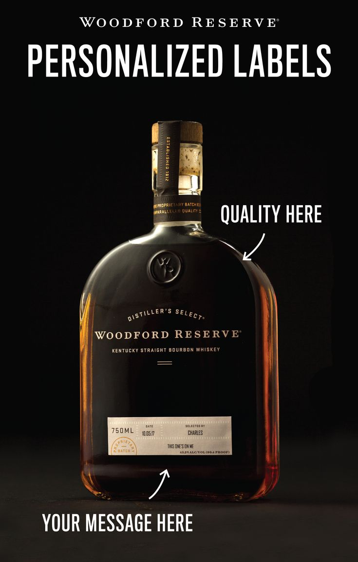 Free personalized labels from Woodford Reserve make for the perfect holiday gift for the bourbon lover on your list. Order by December 11th to guarantee delivery in time for the holidays.