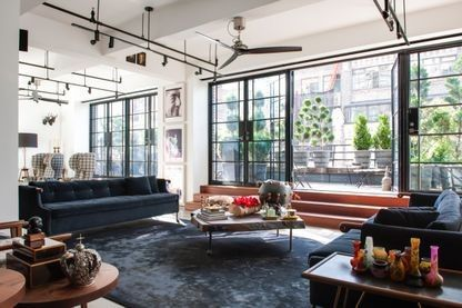 House tour: an industrial loft renovation in New York: The 47-square-metre, south-facing terrace and its classic New York views is a highlight.