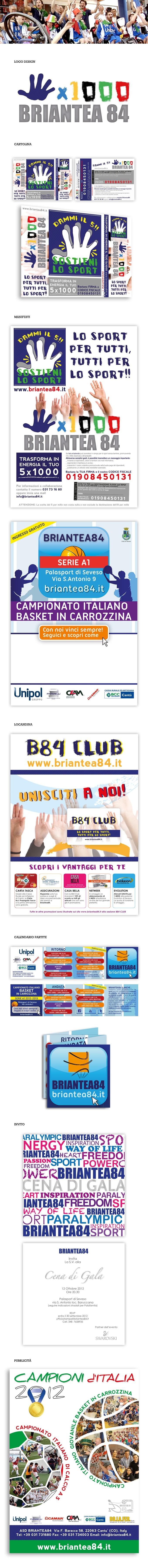 BRIANTEA 84 - Campagna pubblicitaria e Studio grafico - Dammi il Cinque! Campagna pubblicitaria per la donazione del cinque per mille a Briantea 84, Associazione sportiva dilettantistica Diversamente Abili.