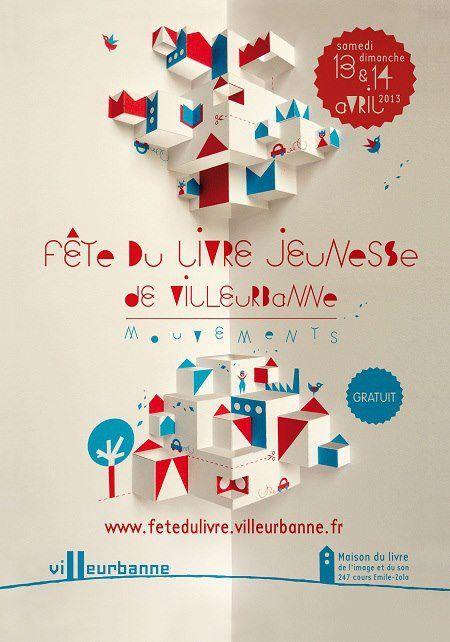 Affiche, Fête du livre jeunesse, Villeurbanne 2013.