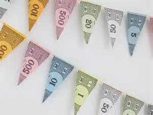 Mini Paper Bunting - Monopoly Money Bunting