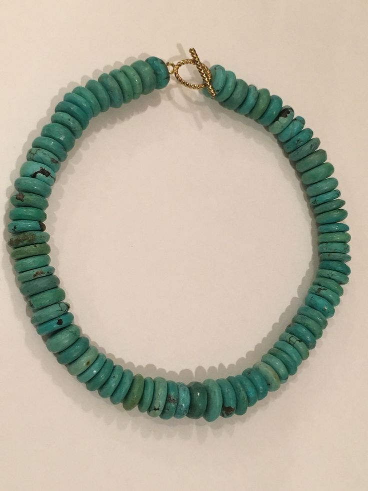 Turquoise Howlite Rondelle Necklace -similar to Cameran Eubanks Southern Charm necklace