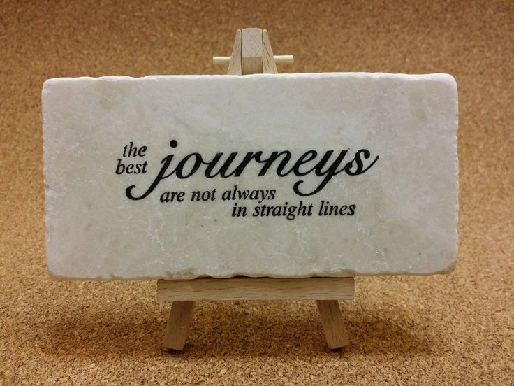 Travel quotes hand stamped on tumbled Botocino marble! www.marbledinspirations.ca