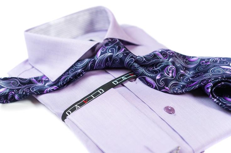 Handmade dress shirt and tie.
