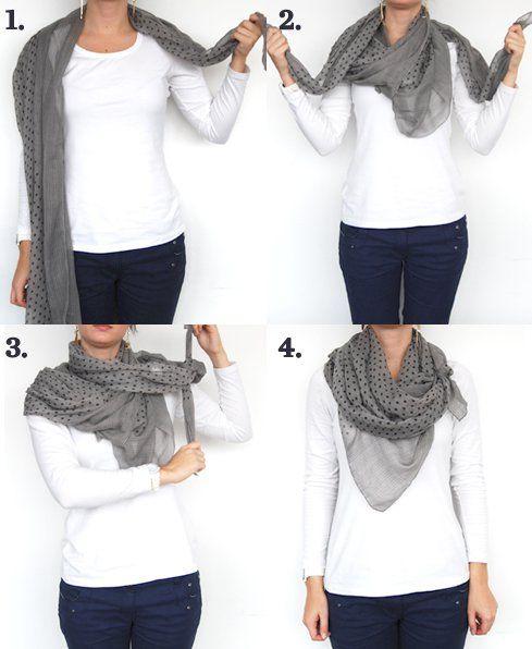 DIY wear ur scarf in a stylish way