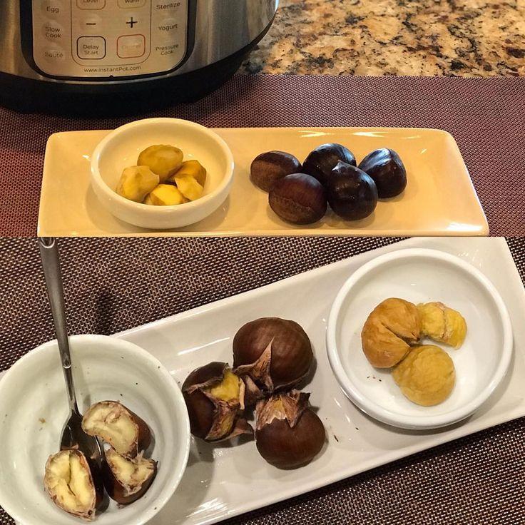 Instant Pot Chestnut (찐밤) & Air Fryer Chestnuts 1️⃣Wash