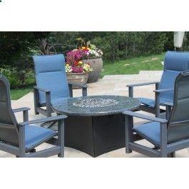 Blue Granite Gas Fire Table