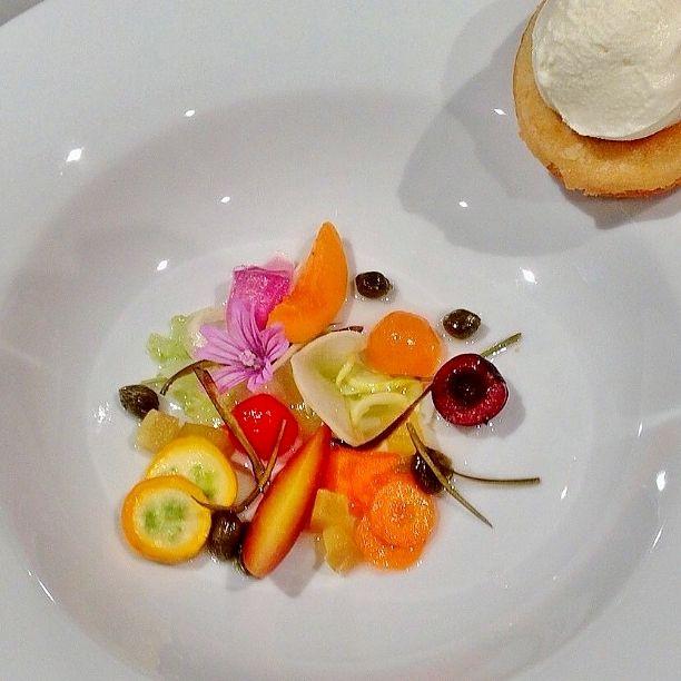 zuppetta di frutta e verdura, gelato al latte di capra