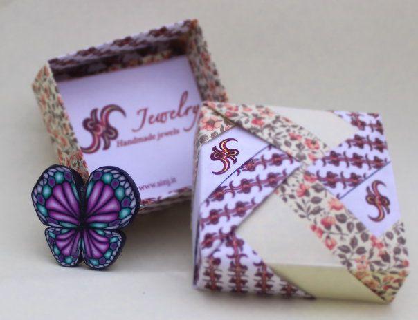 Pink butterfly brooch. Spilla Farfalla Rosa