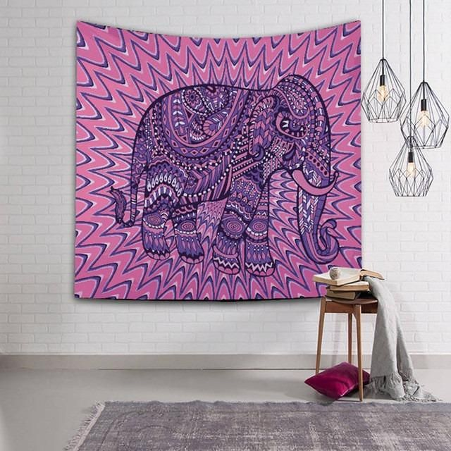 NEW Elephant Large Decorative Yoga Tapestry