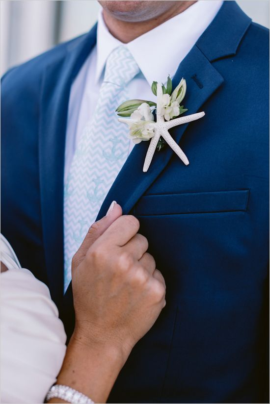 #starfish #boutonniere @weddingchicks