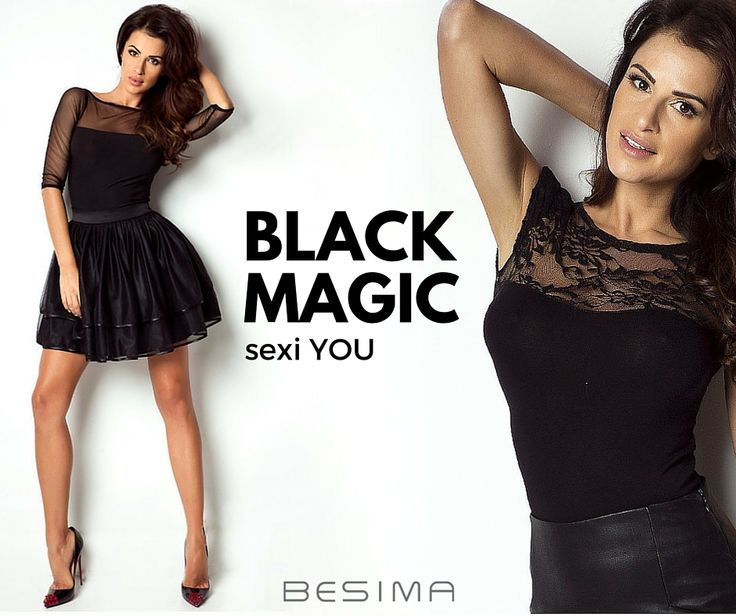 Black Magic in Fashion - Sexi YOU.  Czerń nigdy nie wychodzi z mody, teraz w Besima.pl zmysłowe czarne bluzki i spódnice. http://besima.pl