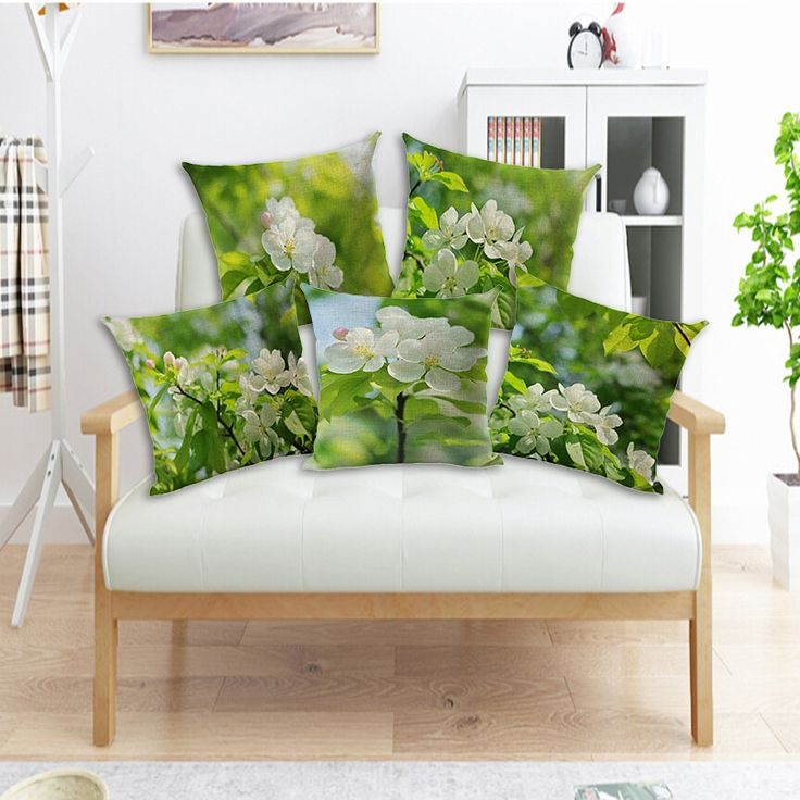 Cheap cushion cover, Buy Quality fashion cushion covers directly from China throw pillow covers Suppliers: Fashionable Vintage Cushion Cover Green Leaf Pillow Case Cotton Linen Home Decorative Fresh Variety Floral Throw Pillow