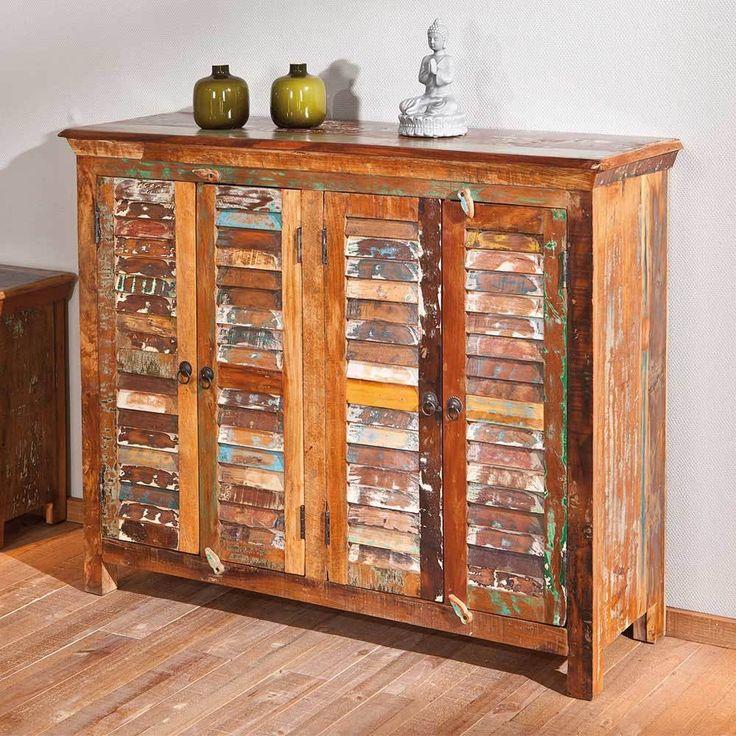 Vintage Sideboard im Shabby Chic Style Braun Bunt Jetzt bestellen unter https moebel ladendirekt de wohnzimmer schraenke sideboards uid udcefa cd eb a