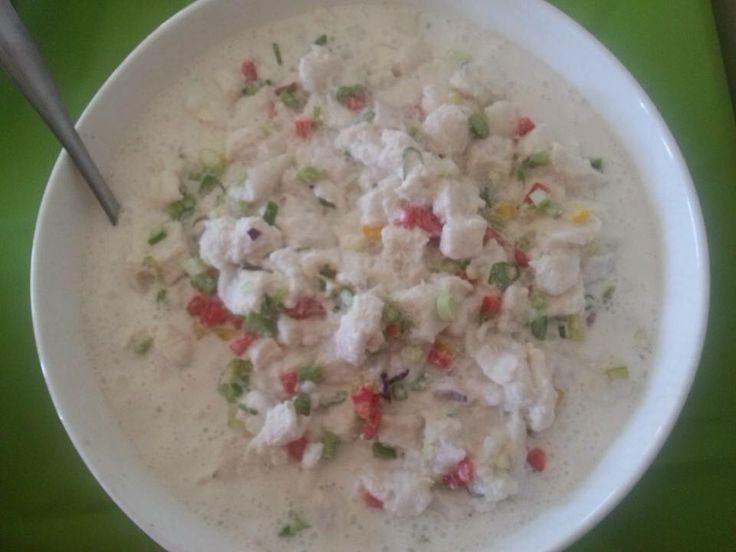Kokoda. Raw fish in lime juice and coconut milk.