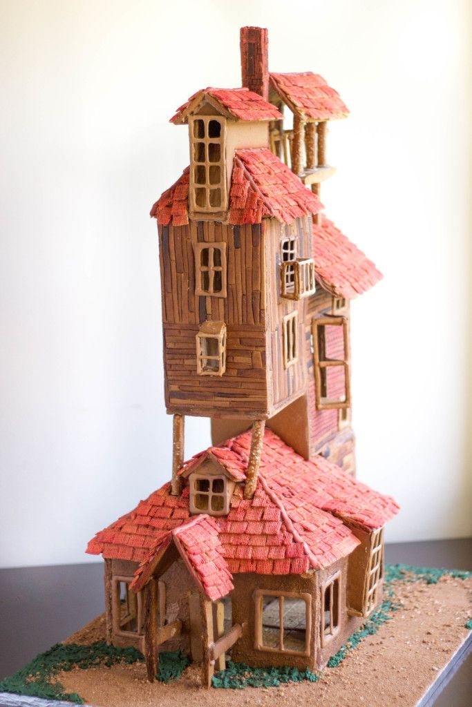 From Harry Potter - the Weasley's Burrow Gingerbread House (100% edible!)