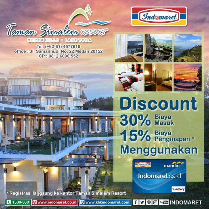 Diskon s/d 30% dengan Indomaret Card di Taman Simalem Resort. Manfaatkan kesempatan baik ini :)
