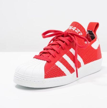 adidas Originals SUPERSTAR 80S czerwone PK Tenisówki i Trampki red/white