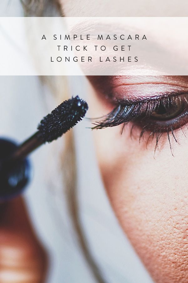 A Simple Mascara Trick to Get Longer Lashes  via @PureWow