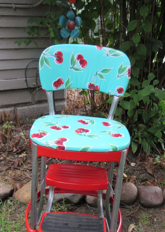 Reserved For Amy Vintage Cosco Step Stool With Back