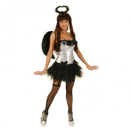 Womens Silver Sequins Angel Costume