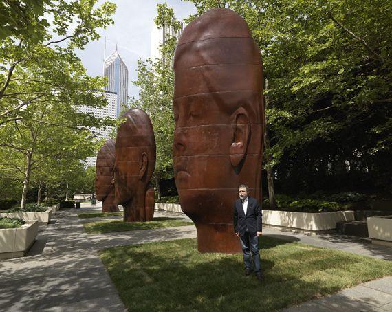 Jaume Plensa's Four New Sculptures for Chicago's Millennium Park