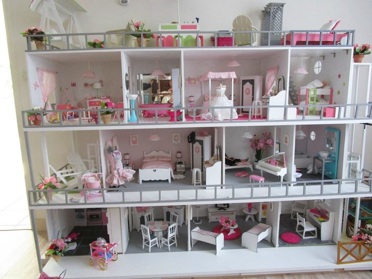 682 best barbie doll house 1 6 scale images on pinterest miniatures doll houses and dollhouses. Black Bedroom Furniture Sets. Home Design Ideas
