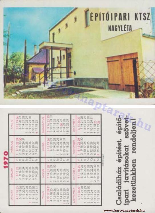 1970 - 1970_0447 - Régi magyar kártyanaptárak