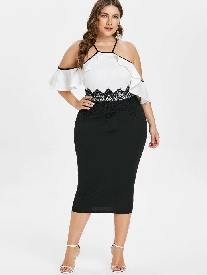 b060eefe1d Vestidos De Fiesta Cortos Para Gorditas Mujer Plus Size Elegantes Tallas  Grandes  VestidosPlusSize  VestidosParaGordita