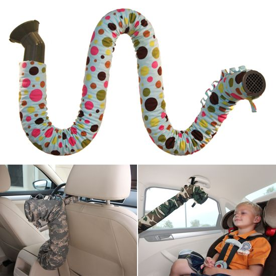 The Noggle - Extends A/C to the back seat to keep kids cool in the car! I need one of these!