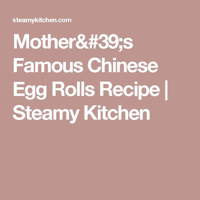 ... Egg Rolls on Pinterest | Chinese Egg, Egg Rolls and Homemade Egg Rolls