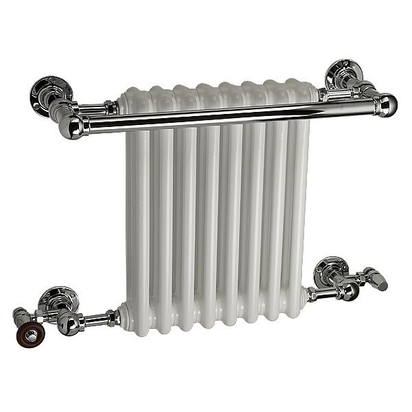 The Ashill is a luxury hand-made brass traditional towel rail, manufactured in the UK. Various sizes and finishes available. Central heating, dual fuel and electric only options makes this the perfect solution for your home. Complete with a 5 year guarantee. The integral radiator can also be a colour of your choice (white as standard).  Prices from £539.90!