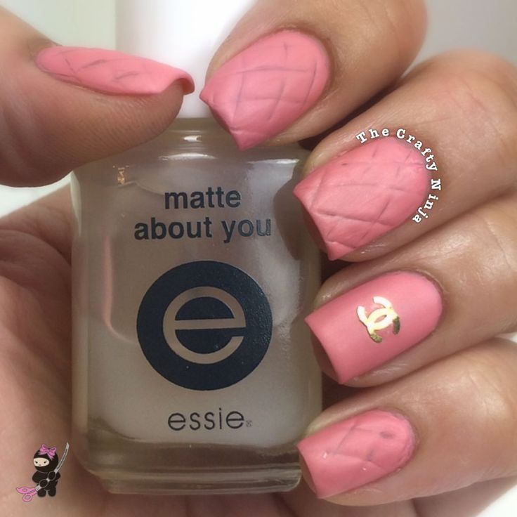 Pink Quilted Chanel Nails
