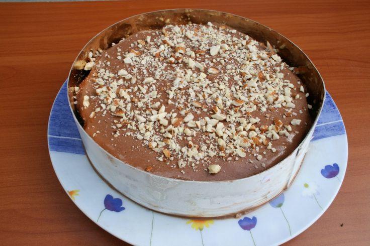 Torta gelato cioccolato e mandorle