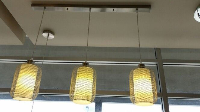 Pendant lights - stainless grill - $169 @ beacon