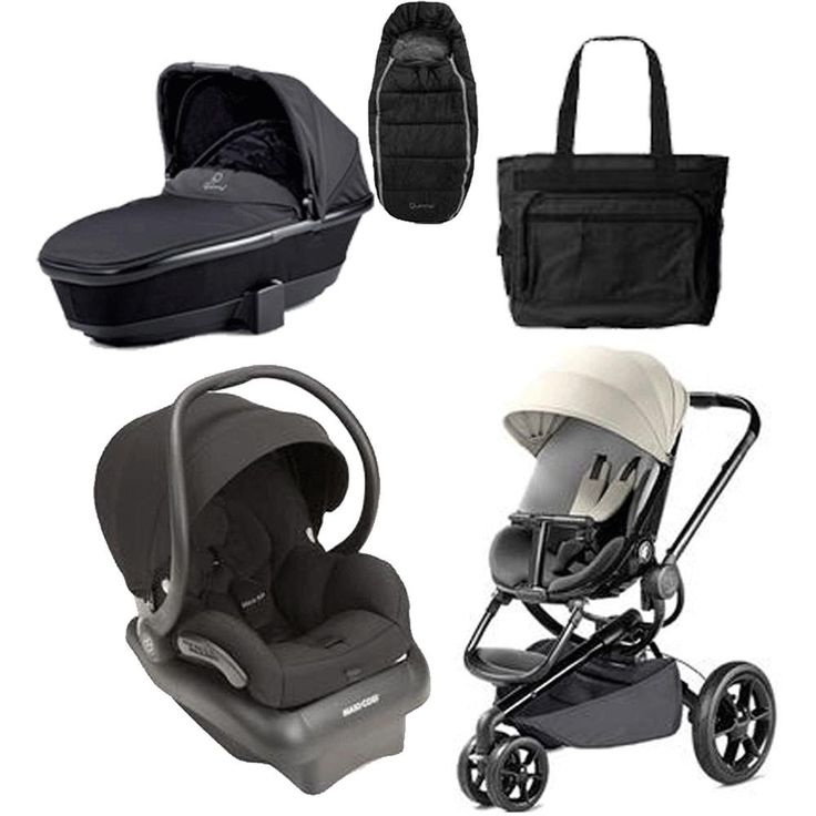 Quinny Moodd Complete Collections - Black. Buzz Footmuff - Black. Tukk Bassinet. Quinny Moodd Stroller Bold Block Red. Mico AP Infant Car Seat. Black Fashionable Diaper Bag.