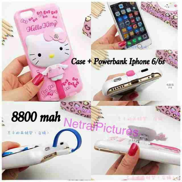 #case + #powerbank #hellokitty for #iphone only 6 & 6s @ 230.000