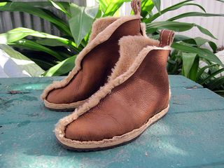 Toasty warm and super comfy genuine shearling boots can be yours in a few relaxing hours. Shearling is sheep leather tanned with the wool still attached. It's...