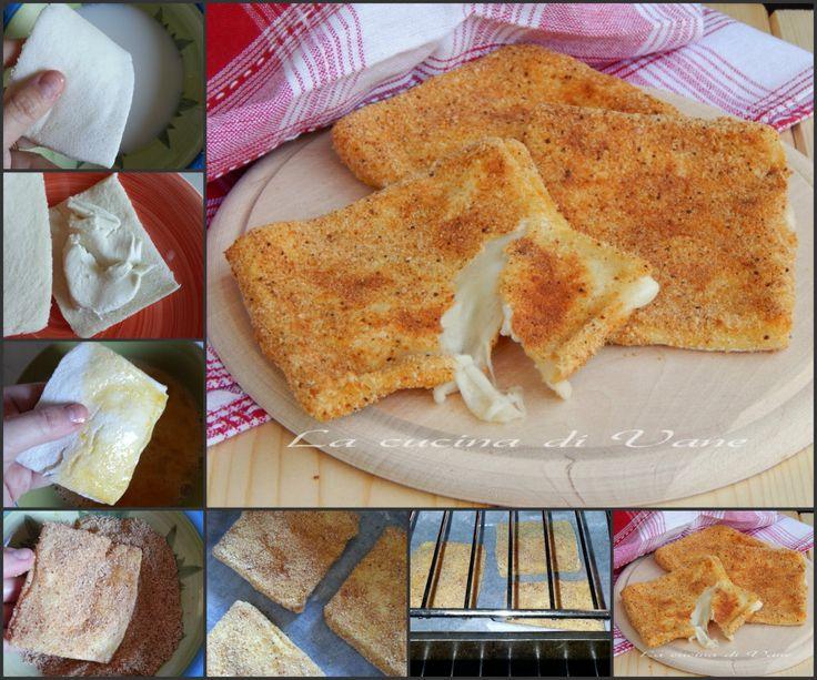 mozzarella in carrozza al forno.