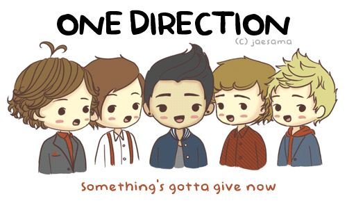 WOOHOO! Mini 1D gif! singing One Thing 3 I wasnt sure if it was somethings gotta give now or somethings gotta get loud . ._____. If I messed up, sorry *NOTE* It doesnt go with the timing of the song unfortunatelythat would take me forever xoxo mia
