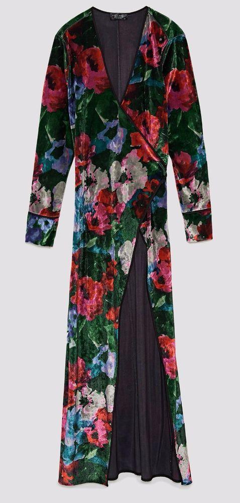 NWT ZARA Floral Print Kimono Dress Style Crossed Belt Flower Size M Ref.5580/321 #ZARA #Dress #Casual
