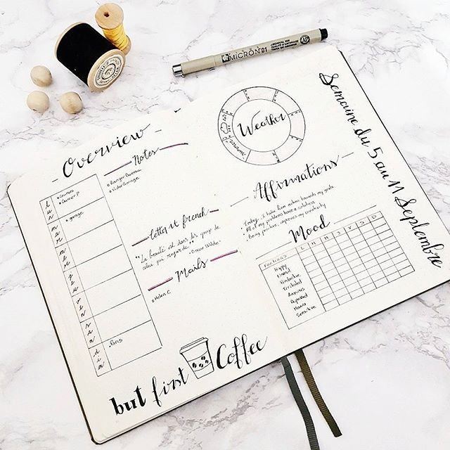 Here is my new weekly spread : A quick overview of the week. There is also a…