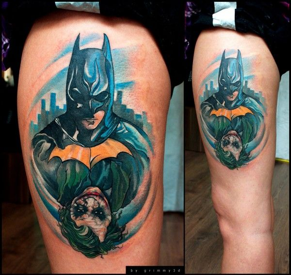 Joker and Batman Tattoo